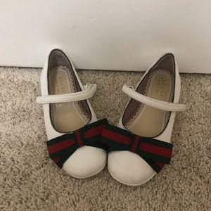 Toddler Girls White Ballerina Gucci Flats